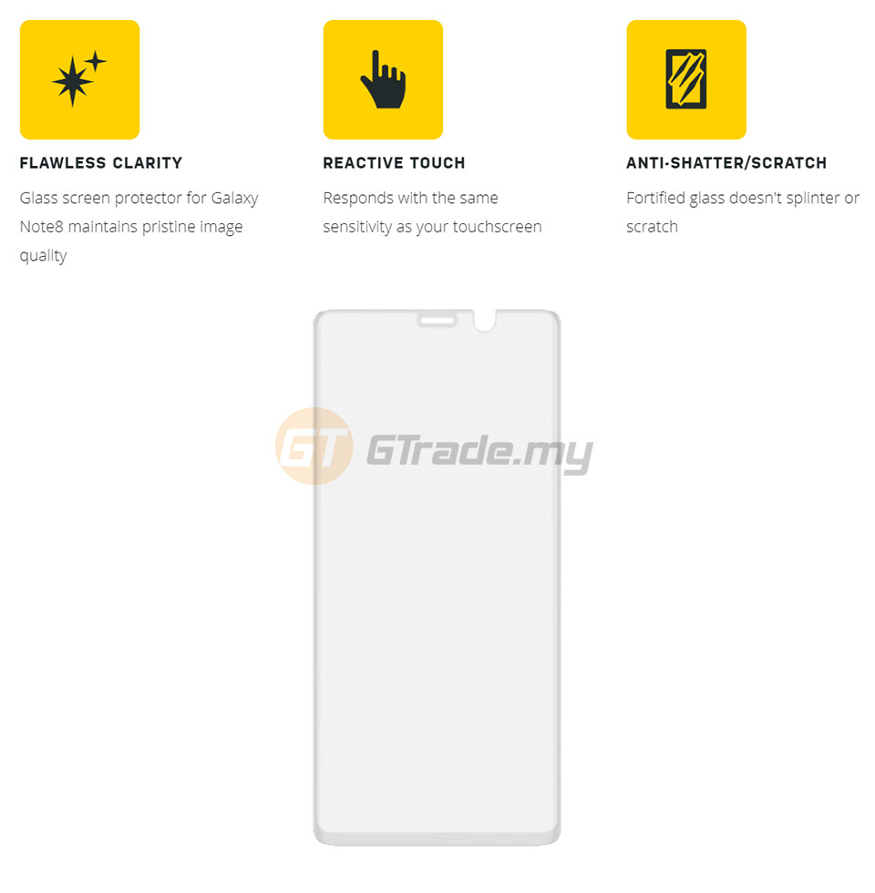 new style 89a49 269a4 OTTERBOX Alpha Glass Screen Protector | Samsung Galaxy Note 8