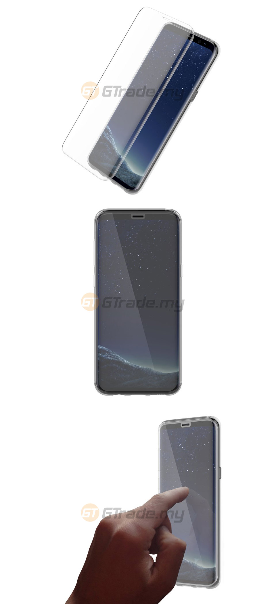 sports shoes 54612 a74fa OTTERBOX Alpha Glass Screen Protector | Samsung Galaxy S8 Plus