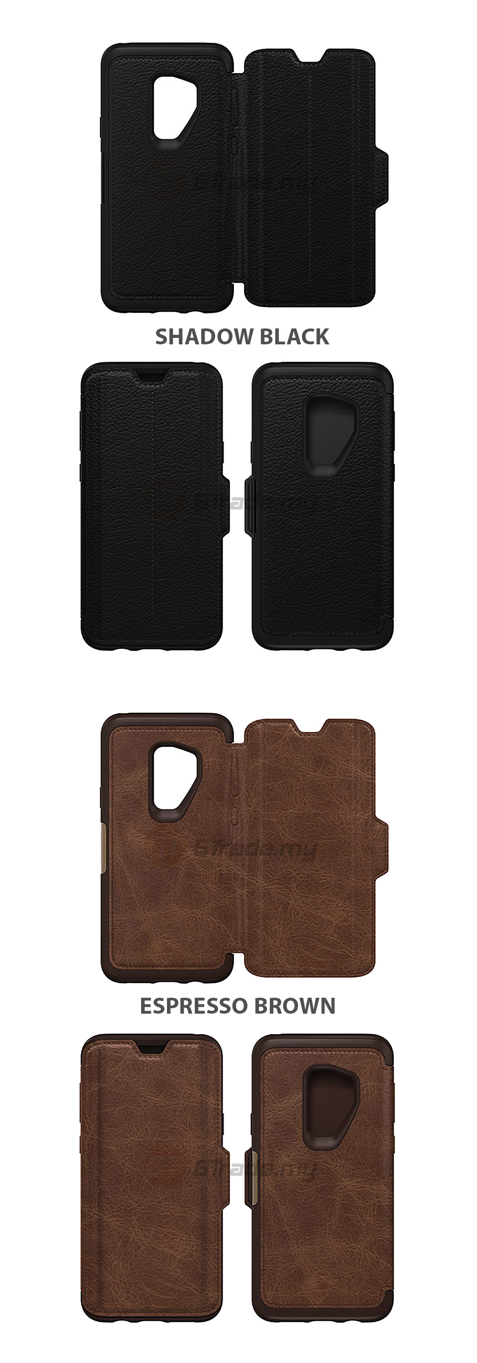 the best attitude 9e451 f79e9 OTTERBOX Strada Folio Premium Leather Case Samsung Galaxy S9 Plus ...