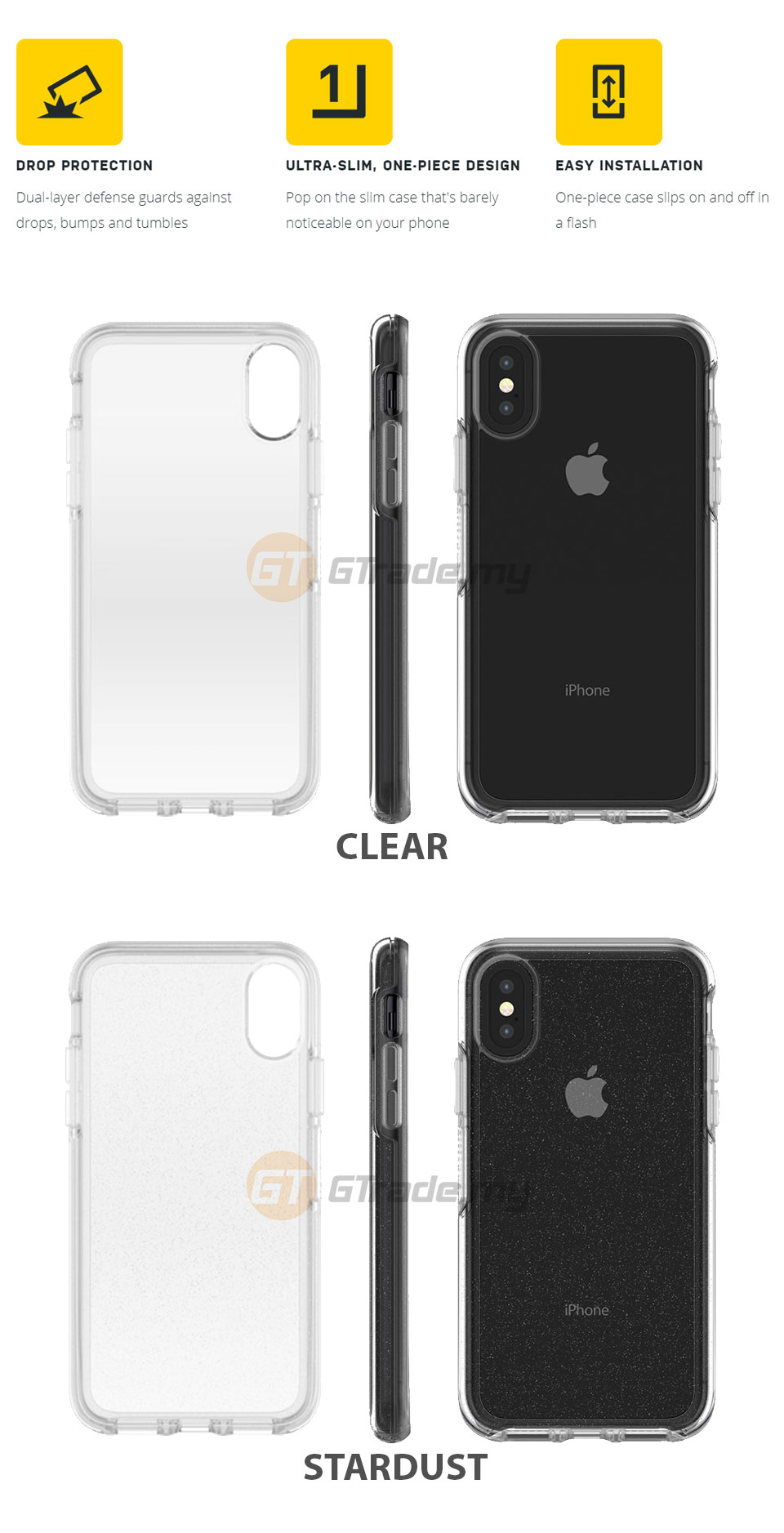 quality design df057 42e24 OTTERBOX Symmetry Clear Slim Stylish Case Apple Iphone X Clear *Free ...
