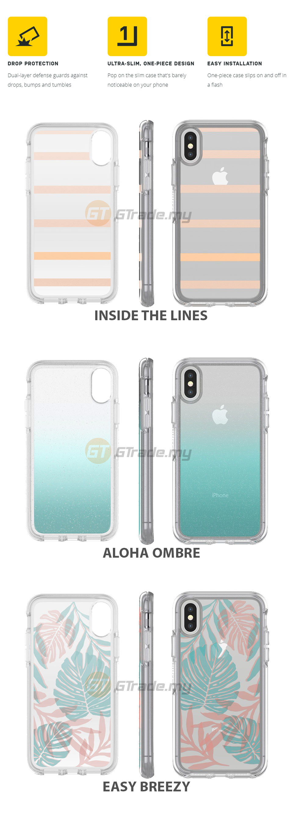size 40 c81b1 9c4c3 OTTERBOX Symmetry Clear Slim Stylish Case Apple Iphone X Inside The ...