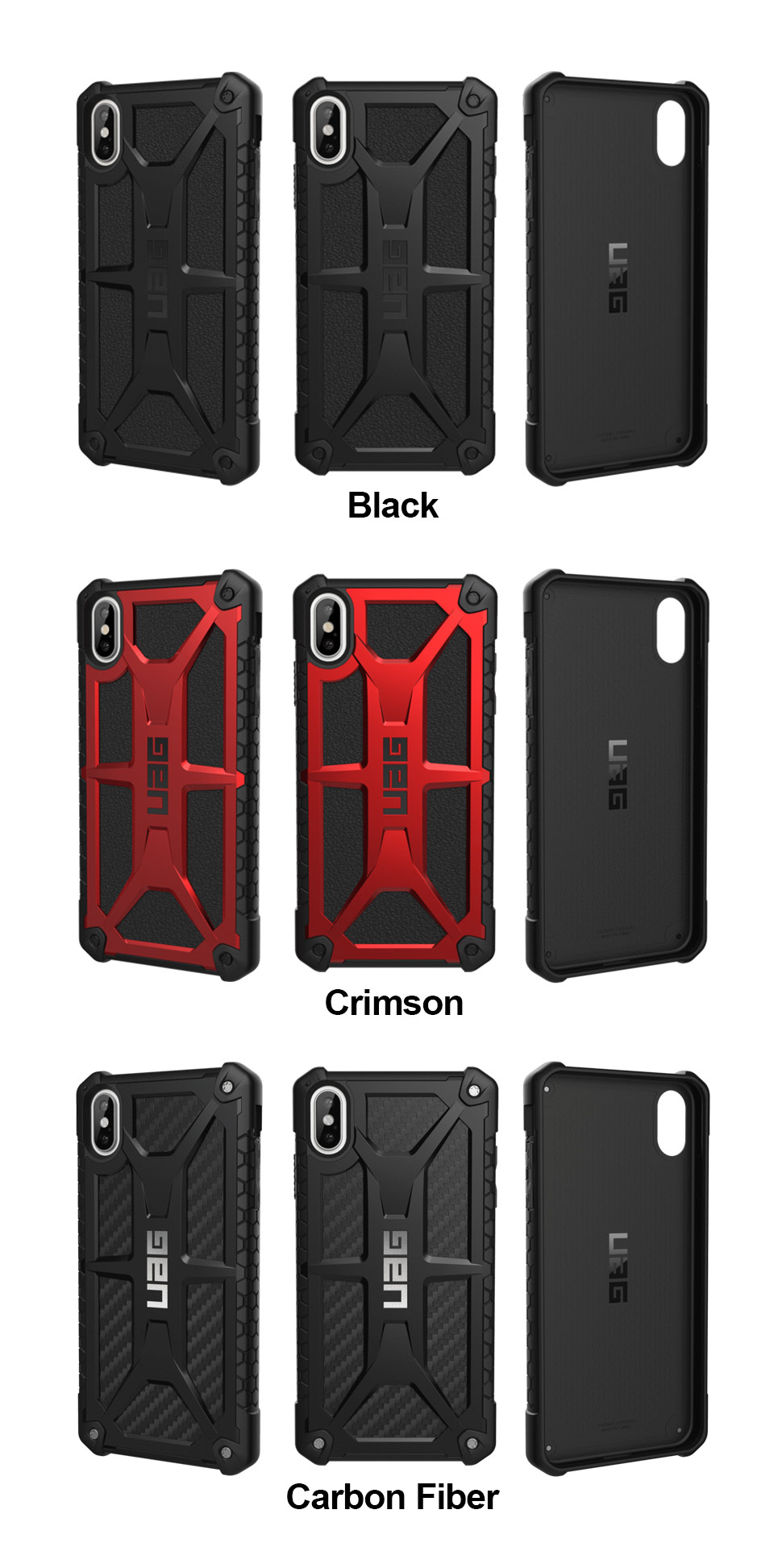 best sneakers 40382 f4063 UAG Urban Armor Gear Monarch Case | Apple iPhone Xs Max - Carbon ...