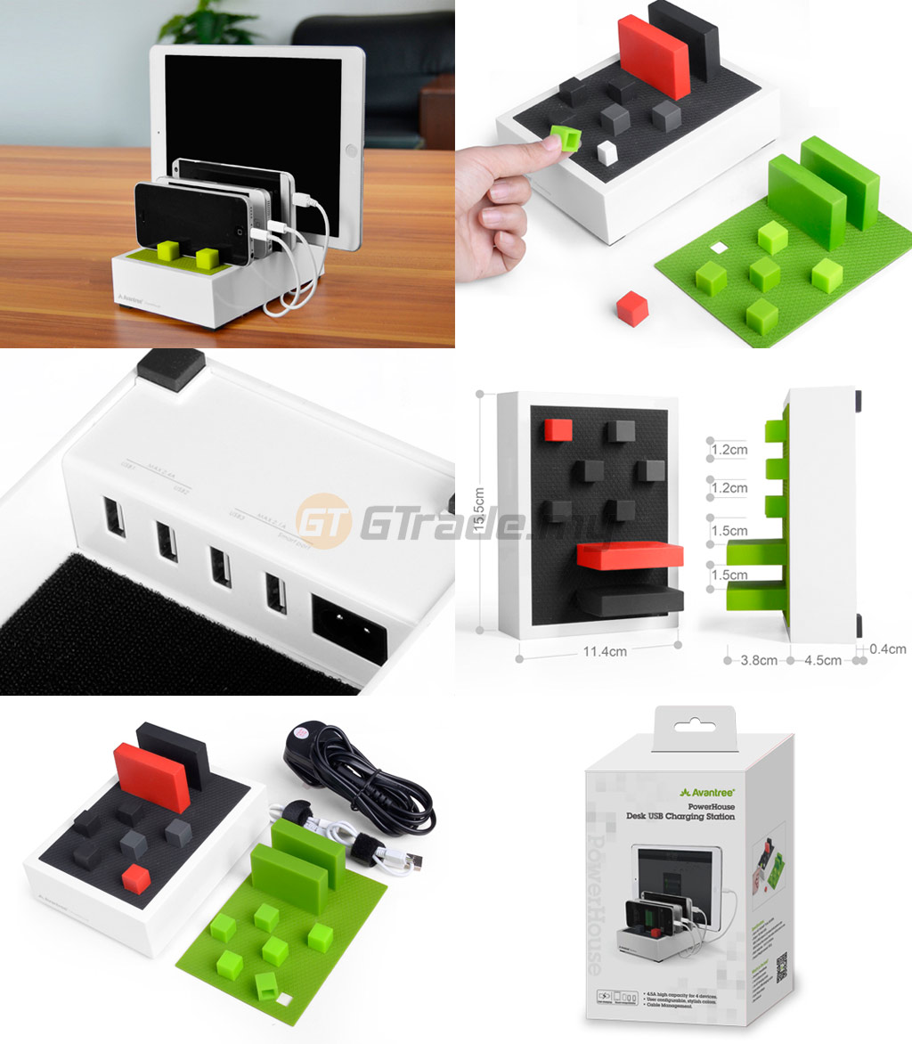 avantree-powerhouse-4.5a-desk-usb-charging-station-for-4-devices-smartphone-tablet-ipad-iphone