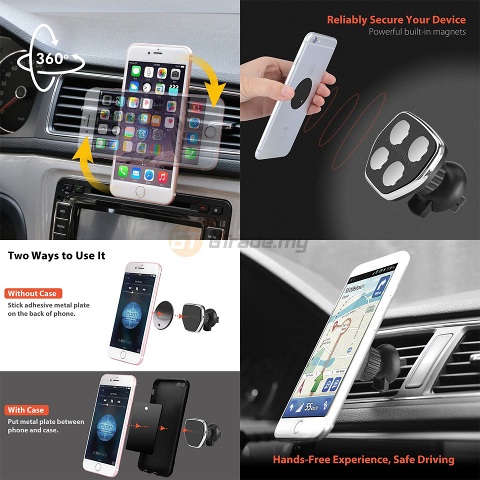 Avantree Phone Magnetic Air Vent Holder for Car HD097 iPhone